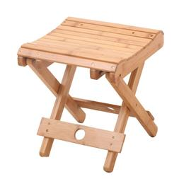 1PC Folding Stool Solid Wood Outdoor Fishing Chair for Home