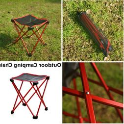 1X Chair Portable Folding Camping Stool for Hiking BBQ Picni