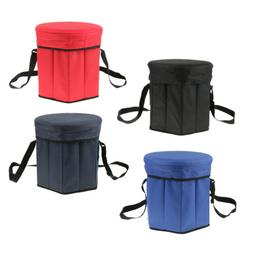 2 in 1 Camping Chair Fishing Stool Picnic Insulated Lunch St