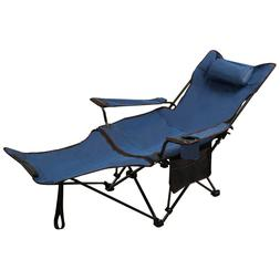 REDCAMP 2 In 1 Folding Heavy Duty Recliner Camping Chair wit