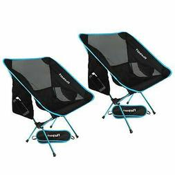 FBSPORT 2 Pack Lightweight Folding Camping Backpack Chair Co