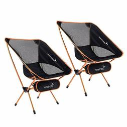 2 Pack Portable Lightweight Folding Camping Chair for Backpa