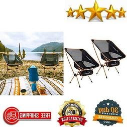 2-Pack Portable Lightweight Folding Camping Chair For Backpa