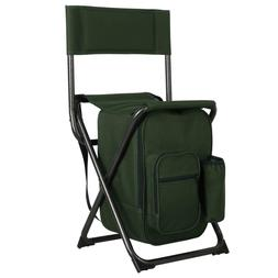 27 Cans Cooler Seat Camping Chair Compact Portable Folding S