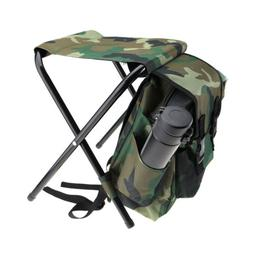 2in1 Folding Fishing Stool Backpack Seat Chair Hunting Sport