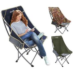 Folding High Back Camping Chair Lightweight  Heavy Duty 220l