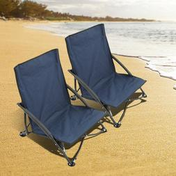 2pc Low Sling Event Sand Beach Camping Hiking Folding Chair