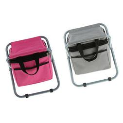 Perfeclan 2Pcs Folding Camping Chair Backpack Cooler for Out