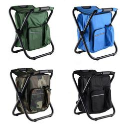 3 in 1 Foldable Stool Chair Backpack Insulated Cooler Bag fo