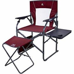 GCI Outdoor 3-Position Reclining Director's Chair, Side Tabl