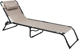 KingCamp 3 Positions Camping Cot Patio Foldable Chaise Loung