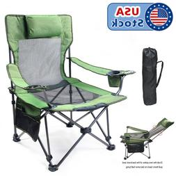 330lbs Heavy Duty Portable Folding Camping Chair Outdoor Fis