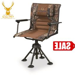 360 Hunting Chair Swivel Armrests Deer Camping Seat Blind Hu