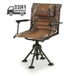 BOLDERTON 360 Swivel Hunting Chair w/ Armrests Padded Mossy