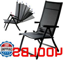 400 LB Heavy Duty Reclining Folding Chair Outdoor Portable c
