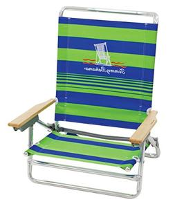 Tommy Bahama 5 Position Classic Lay Flat Beach Chair Green S