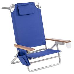 BestMassage 5 Position Classic Lay Flat Beach Chair, Camping