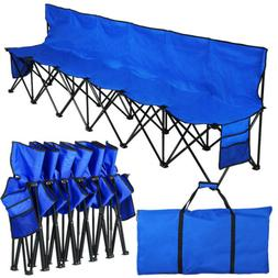 6 Seat Portable Folding Sports Bench Seats Outdoors Camping