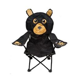 Wilcor Kids Black Bear Folding Camp Chair with Cup Holder an