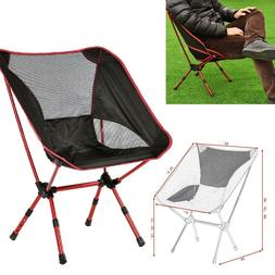 Costway Adjustable Aluminum Folding Camping Chair Seat Fishi