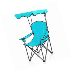 ALPHA CAMP Chairs with Shade Canopy Chair Folding Camping Re