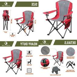Alpha Camp Oversized Camping Folding Chair Heavy Duty Steel
