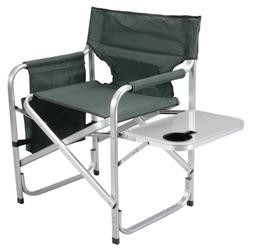 Faulkner Aluminum Director Chair with Folding Tray and Cup H