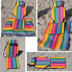 Backpack Portable Beach Chair Mat Lounger lightweight 1.5 lb