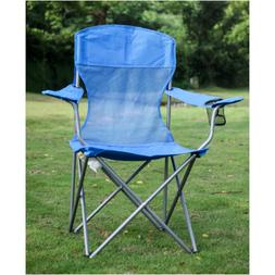 Ozark Trail Basic Mesh Folding Camp Chair with Cup Holder fo