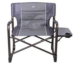 Beach Camping Garden Chair Gray Polyester By Timber Ridge Me