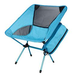 OIKA Beach Chair, Camping Chair Portable and Lightweight Fol