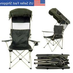 Beach Chair With Canopy Shade Folding Lightweight for Campin