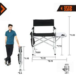 Big Camping Director Chair Heavy Duty Frame Collapsible Recl