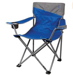 Coleman Big-N-Tall Quad Chair-Blue/Grey Camping Outdoor Fits