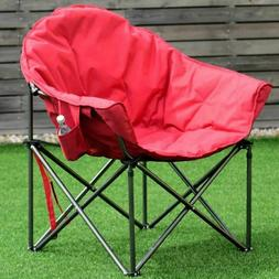 Big Padded Camping Chair Hiking Cup Holder Outdoor Folds Law