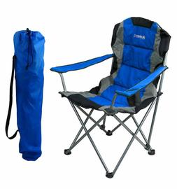 blue folding camping chair ultra lightweight collapsible