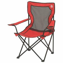 broadband mesh quad camping chair red comes