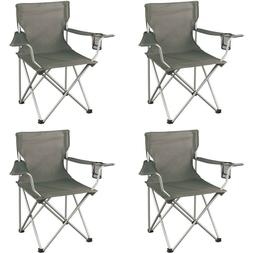 Ozark Trail Classic Folding Camp Chairs Set of 4 Grey Large