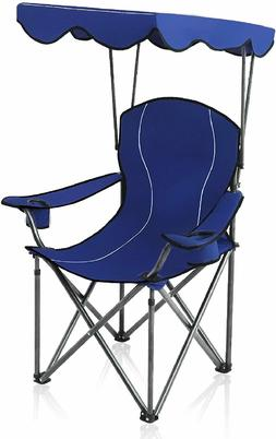 Camp Chairs with Shade Canopy Chair Folding Camping Recliner