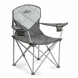 Camp easy with the core padded quad chair. This cozy chair f
