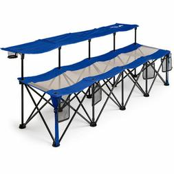 Camping Bench Seat Chair Folding Outdoor Portable Sports 4 P
