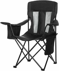 AmazonBasics Camping Chair with Cooler, Black