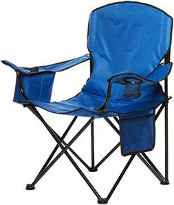AmazonBasics Camping Chair with Cooler, Blue  - XL