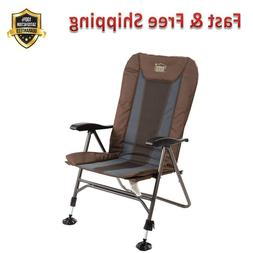 Camping Chair Folding Heavy Duty Adjustable Reclining Padded