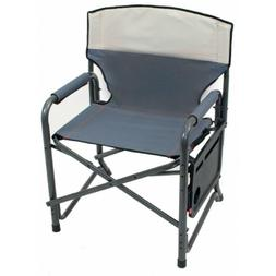 Camping Chair Heavy Duty XXL Folding Fishing Chairs Side Tab