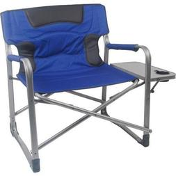 XXL Camping Chair Heavy People with Side Table Tall Director