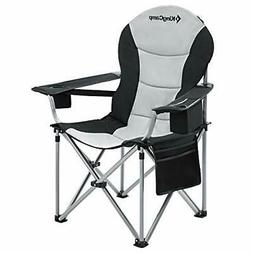 KingCamp Camping Chair with Lumbar Back Support Padded Foldi