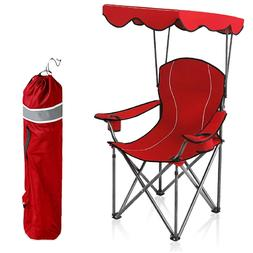 Camping Chairs With Canopy Shade Portable Outdoor Folding Ch