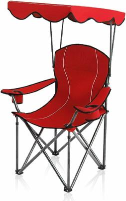 Camping Chairs with Shade Canopy Folding Recliner 350 LBS Ou