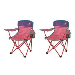 Coleman Kids Camping Glow-in-the-Dark Pink Quad Chairs  | 2
